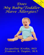 Baby Toddler allergy book cover - click to view more information