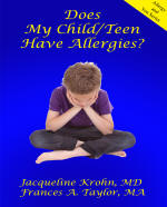 Child Teen allergy book cover - click to view more information