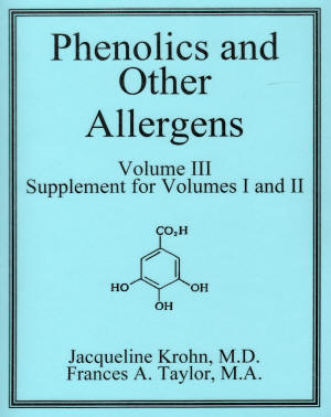 Phenolics & other Allergans vol III book cover